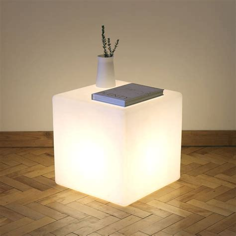 cube lit table by one foot taller notonthehighstreet com