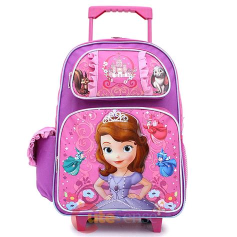 Disney Sofia Large Backpack sofia the 16 quot large school rolling bag wheeled