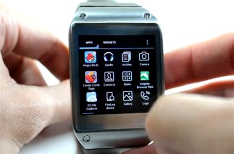 Smartwatch Android Samsung lilbits 10 09 2013 running android apps on samsung s smartwatch liliputing
