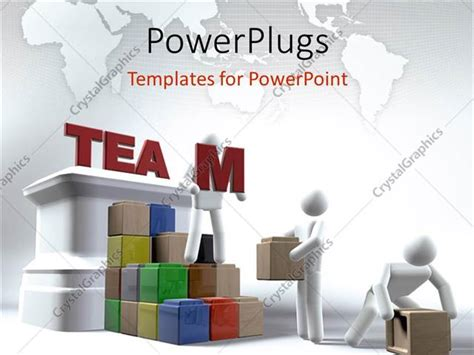 team building powerpoint presentation templates powerpoint template various working as a team 28754