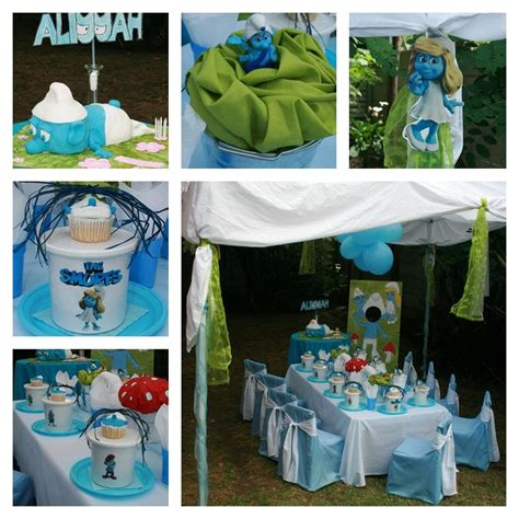 smurfs theme decorations 85 best images about th 232 me stroumphs on