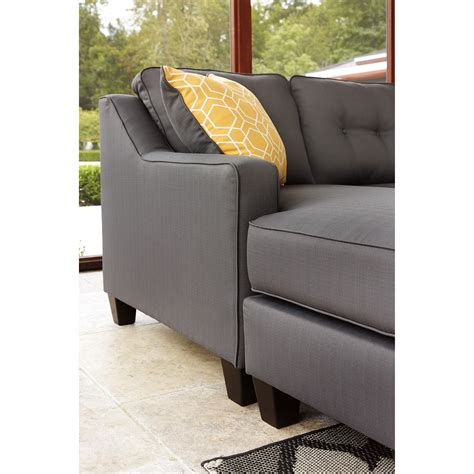 aldie nuvella sofa chaise sleeper benchcraft aldie nuvella 6870268 queen sofa chaise sleeper