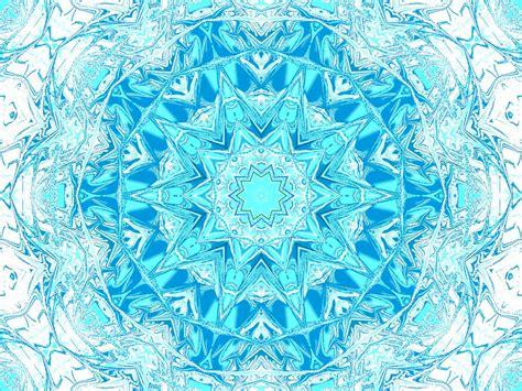 blue kaleidoscope wallpaper turquoise ice fractals kaleidoscopes and mandalas