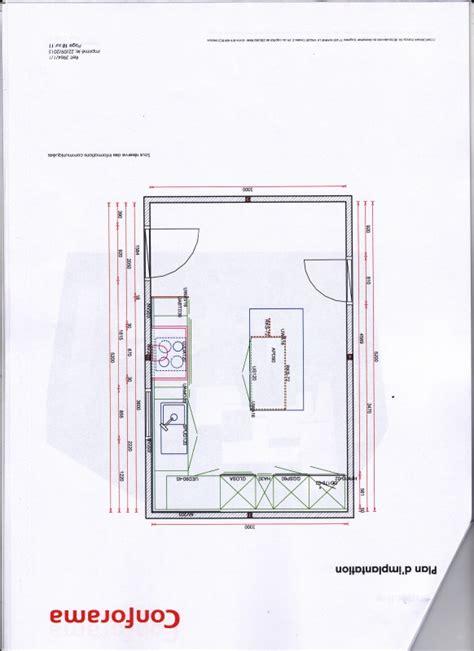 plan de cuisine centrale dimension ilot cuisine cuisine en u avec ilot central