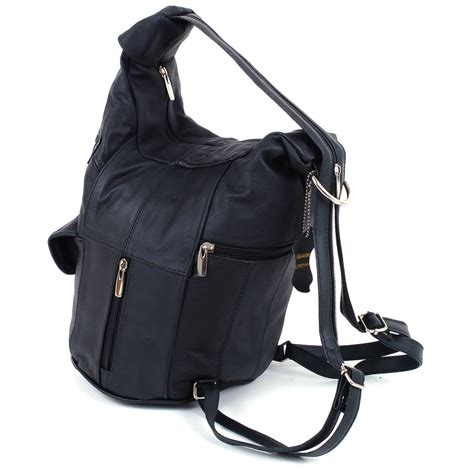 one of a leather handbags womens leather backpack purse sling shoulder bag handbag 3 in 1 convertible new ebay