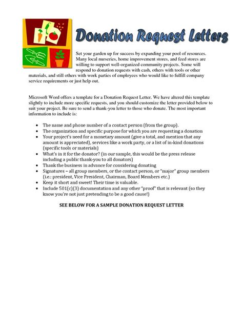 Format Of Appeal Letter For Donation Sle Donation Request Letter For Food With Charity