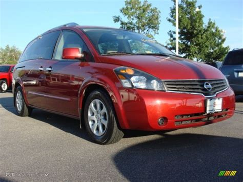 red nissan 2008 2008 red brawn metallic nissan quest 3 5 s 50151060 photo