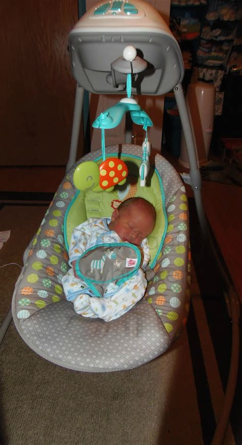 baby swing newborn baby brother loves his bright starts baby swing