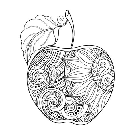 Apple Coloring Pages For Adults | apple coloring page kidspressmagazine com