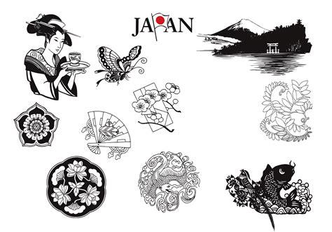 japanese vectors  nature elements