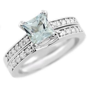 breathtaking aquamarine and engagement ring