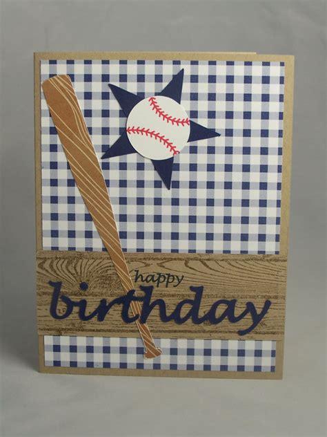 Sports Birthday Cards Handmade Greeting Card Baseball Birthday Card Son