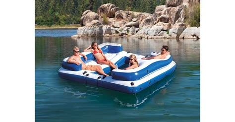 intex oasis island inflatable 5 seater lake river floating