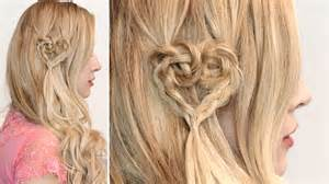 braided heart hairstyle cute hair tutorial for short