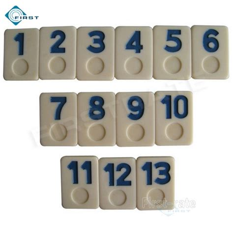Rummi Set 3 urea rummy set blue numbers