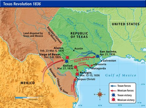 texas revolution map 1836 us history maps