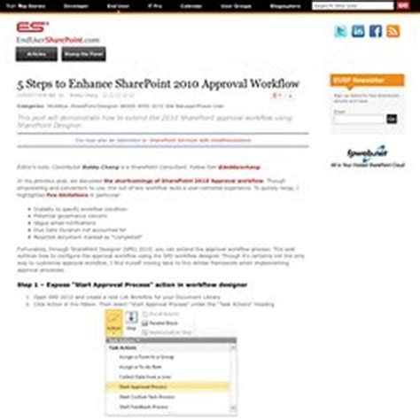 sharepoint 2010 workflow steps sharepoint coding pearltrees