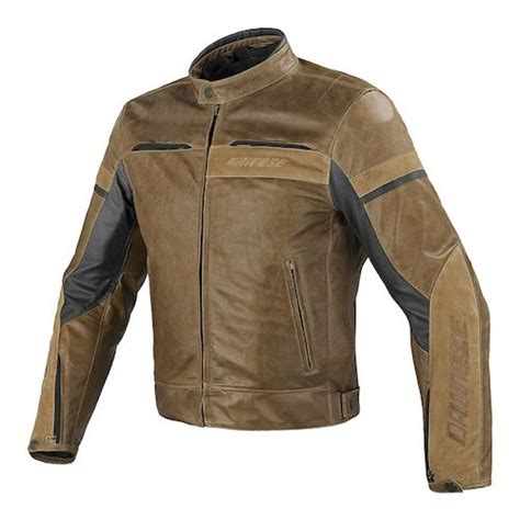 perforated leather motorcycle jacket tobacco