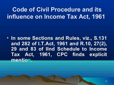 income tax act 1961 sections service of notice