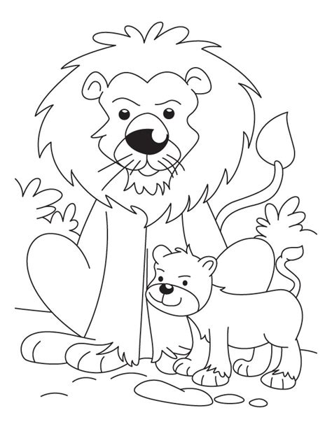 coloring pages of lion cubs baby lion coloring pages az coloring pages