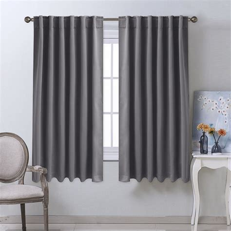 aliexpress buy nicetown solid color blackout curtain thermal insulated rod pocket back tab