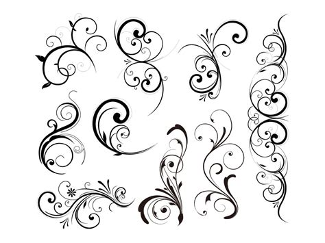 flower design element vector illustration free vector floral vector design elements