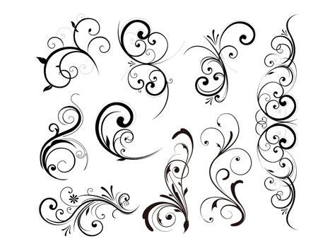 vector pattern elements floral vector design elements