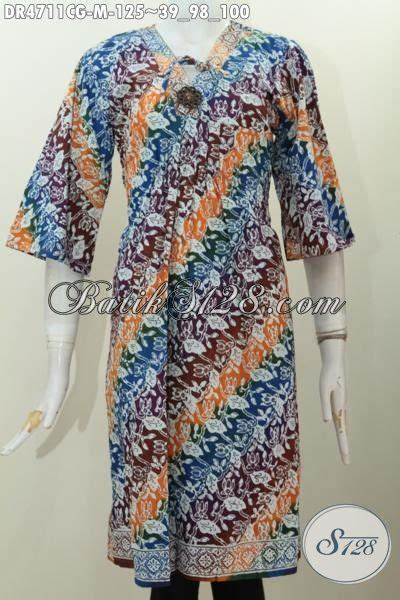 Batik Sarimbit Gradasi Doby Cap dress batik parang warna gradasi busana batik cap kwalitas