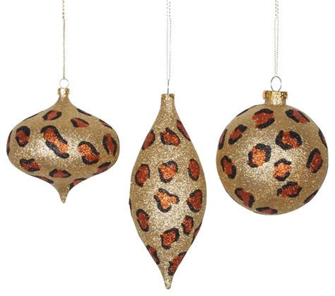 cheetah christmas ornaments safari glitzy cheetah