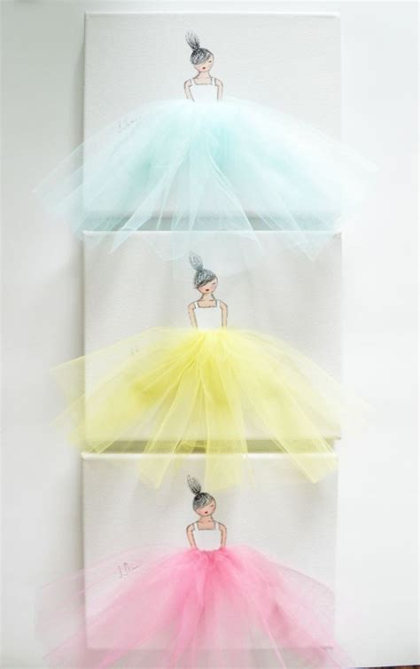 Balerina Canvas by Ballerina Tutu Canvas Wall Ballerina Tutu Ballerina
