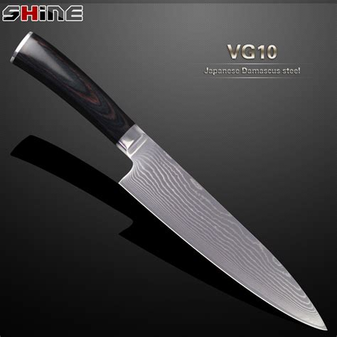 Vg10 Kitchen Knives by High Quality 8 Inch Damascus Kitchen Knife Japanese Vg10