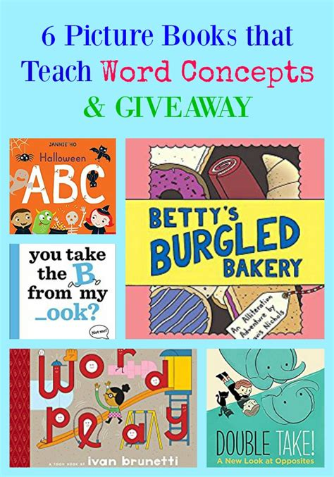 picture books to teach vocabulary 6 picture books that teach word concepts giveaway