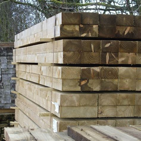 treated softwood stake buy fencing materials  uk oak