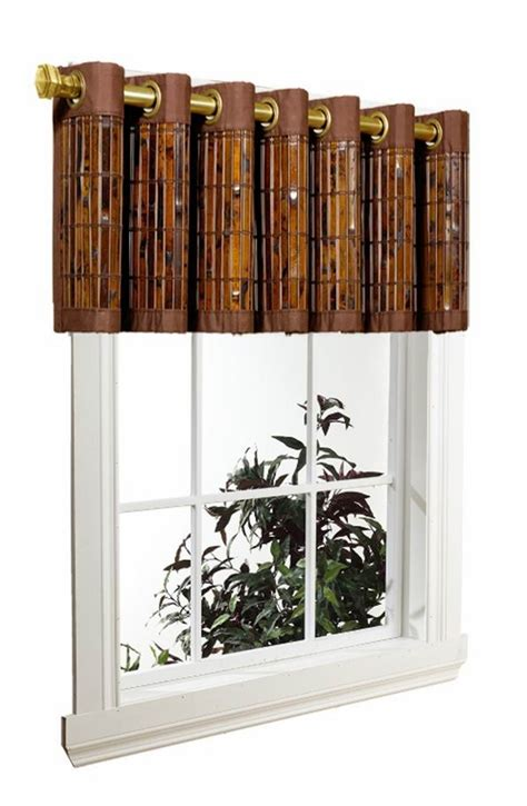 bamboo valance curtains tortoise shell bamboo grommet valance