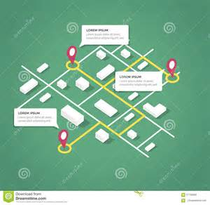 Shop Building Plans Isometric City Map Design Elements Stock Vector Image