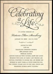 Funeral Invitation Wording Celebrating A Life Classic Black Or Brown Memorial Invitations In Sc