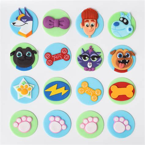 puppy pals birthday cake puppy pals themed fondant cupcake toppers jam cakes fondant