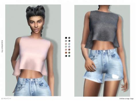 sims 4 custom content top sims 4 downloads little crop top at serenity 187 sims 4 updates