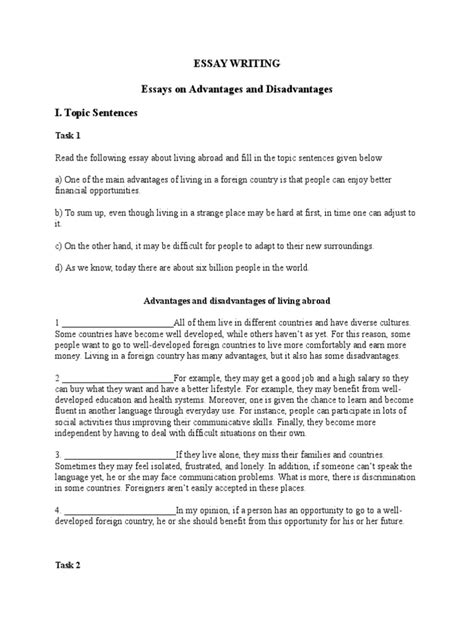 Living Abroad Essay by Advantages And Disadvantages Of Moving Abroad Essay Docoments Ojazlink