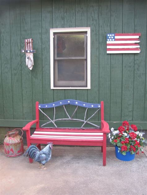 americana bench americana bench america red white and blue pinterest