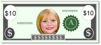 custom printable play money template instant