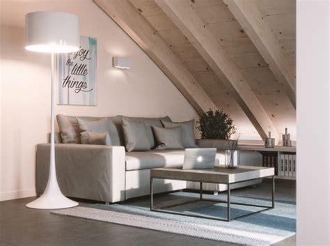 idee per arredare mansarda come trasformare una mansarda in un soggiorno relax