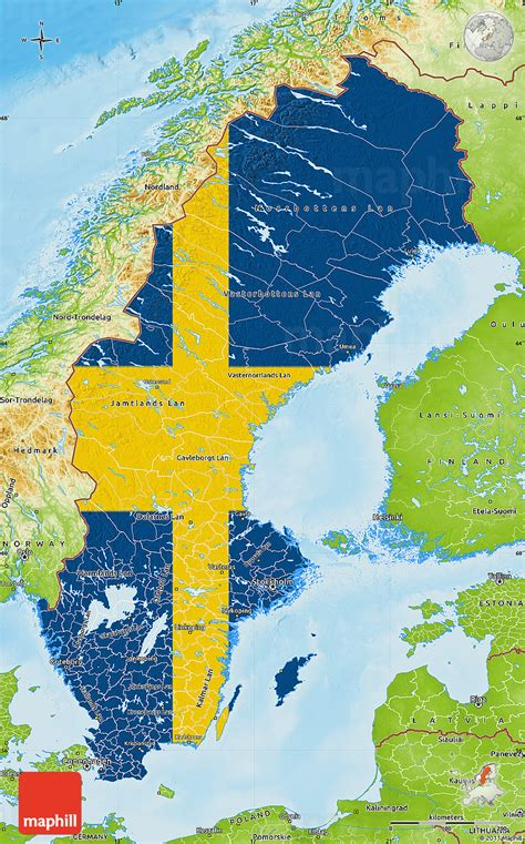physical map of sweden physical map of scandinavia pictures to pin on