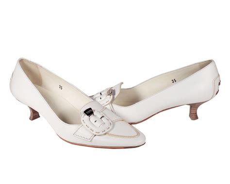 tods shoes for white leather low heels tdw12