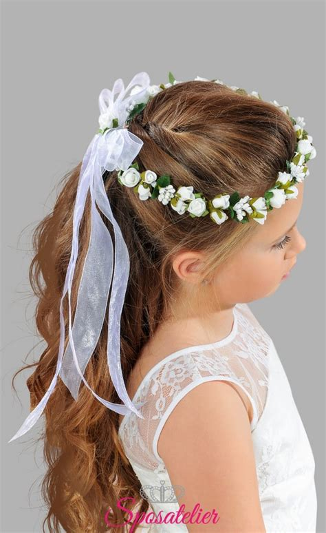 fiori per prima comunione accessori per capelli coroncina di fiori per prima