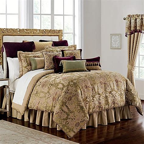 bed bath and beyond waterford waterford 174 linens carlotta comforter set in gold bed bath beyond
