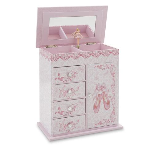 girls musical ballet slippers jewelry box