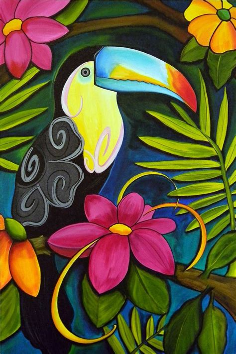 best 20 tropical paintings ideas on
