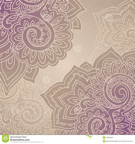 indian pattern frame vector frame pattern of the indian floral ornament stock
