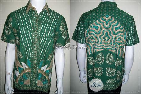 Gamis Batik Tulis Hijau batik hijau pria baju kemeja batik tulis ukuran m